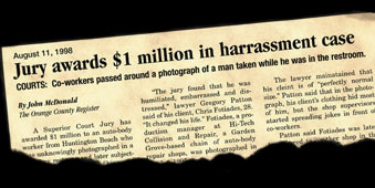 Jury awards $1 million in harassment case