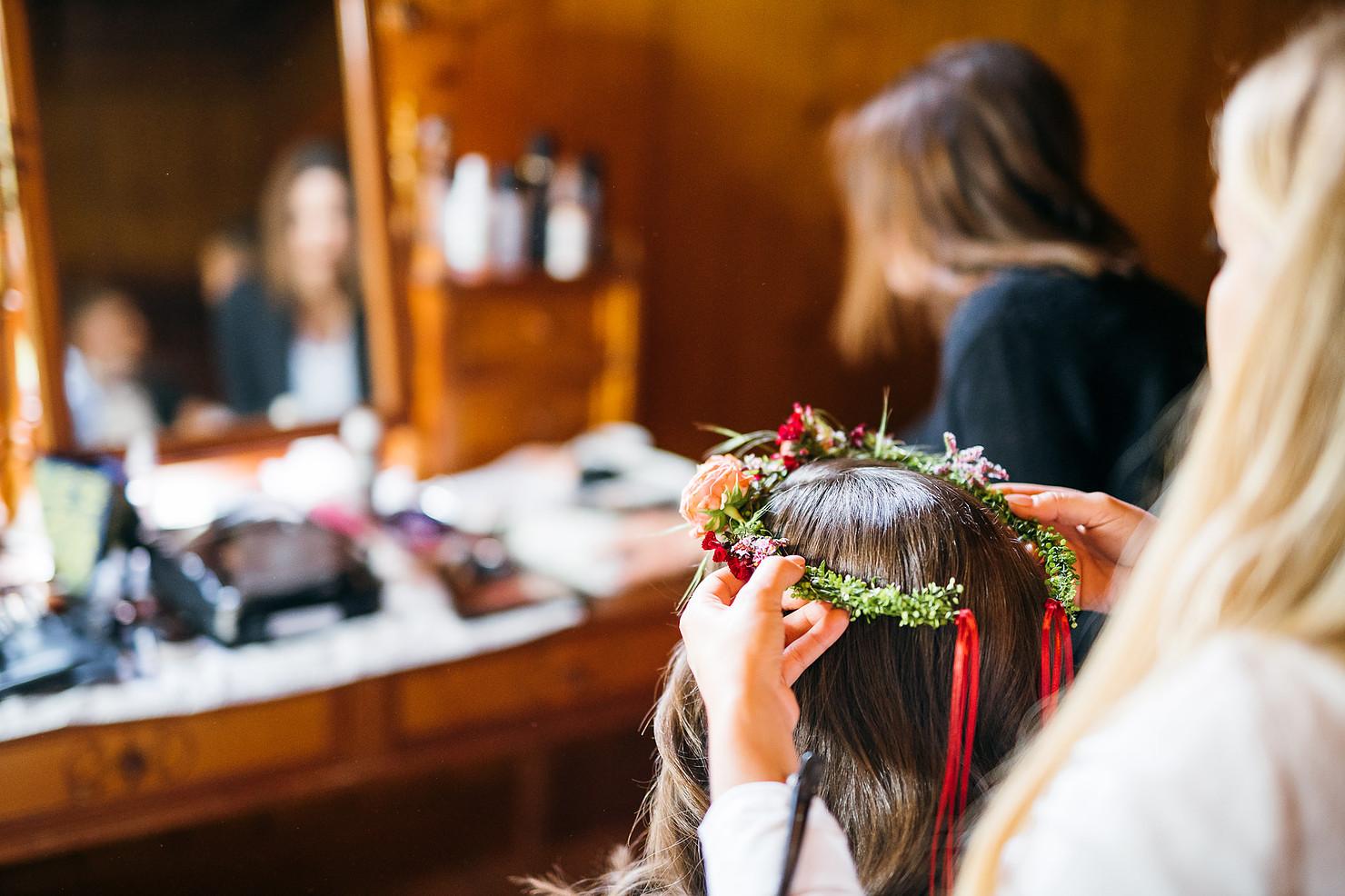 Flowercrown Hochzeit Vorarlberg