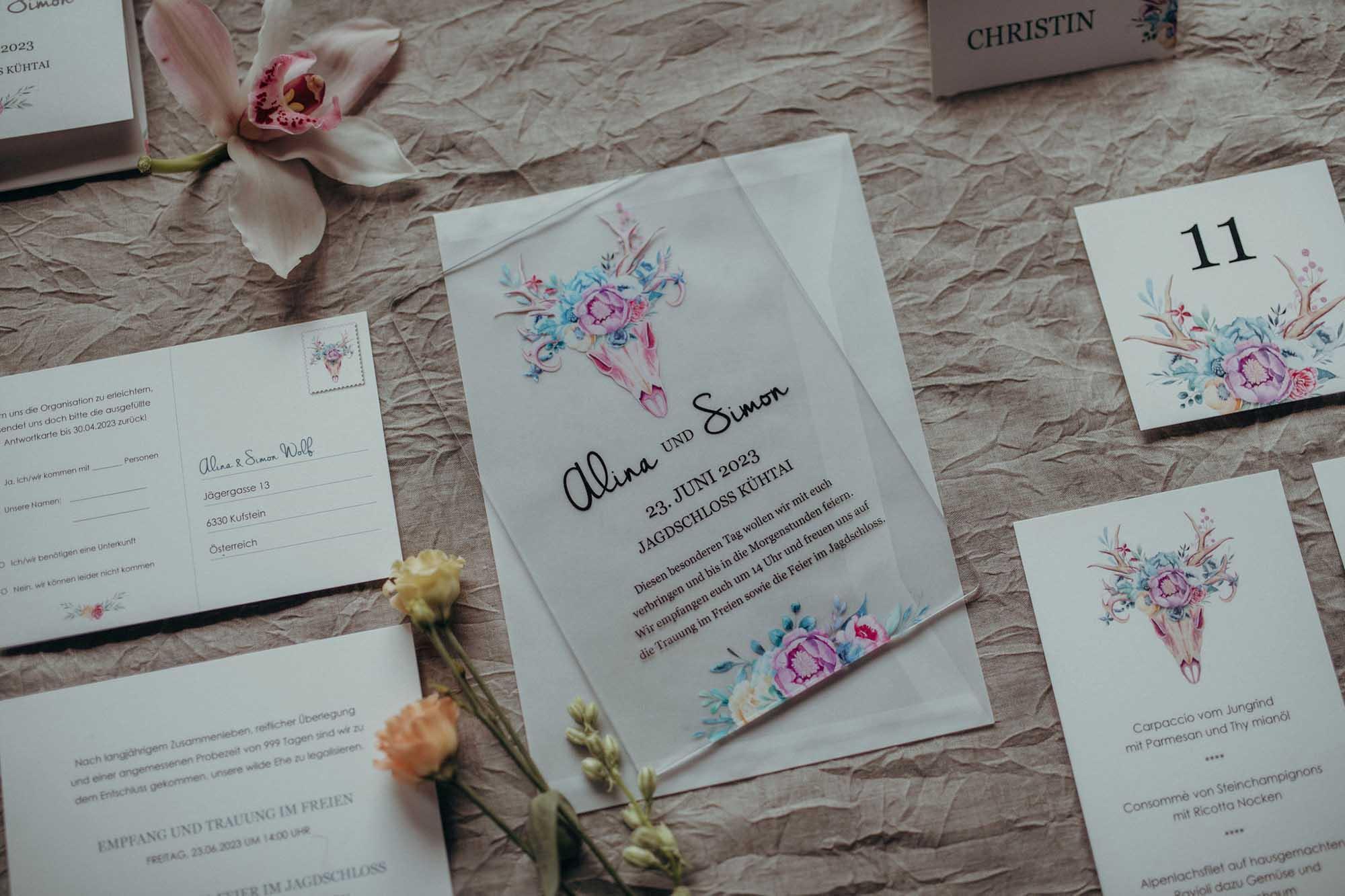 Hochzeitspapeterie von Dankeskarte.com