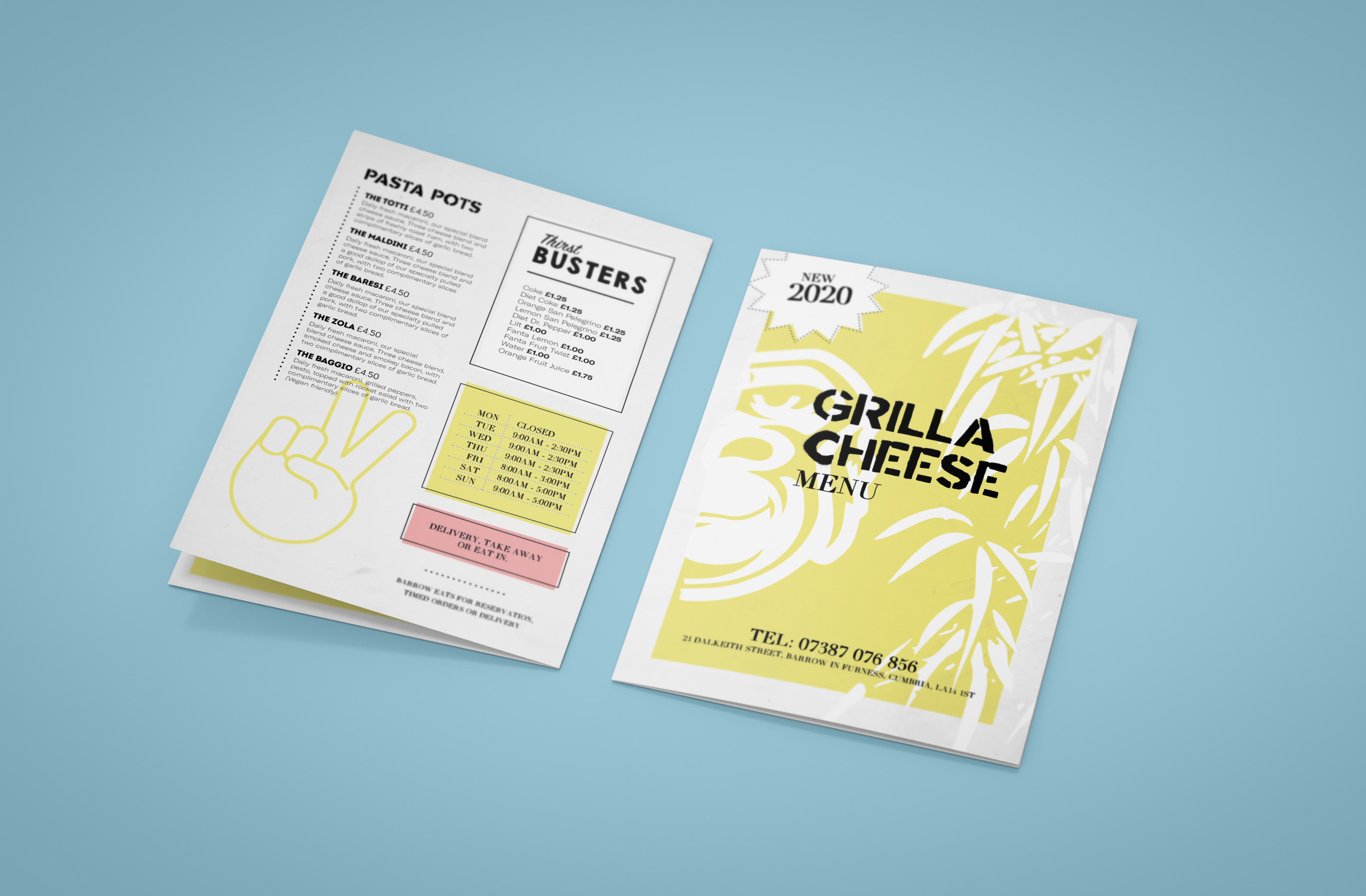 Grilla Cheese Menu