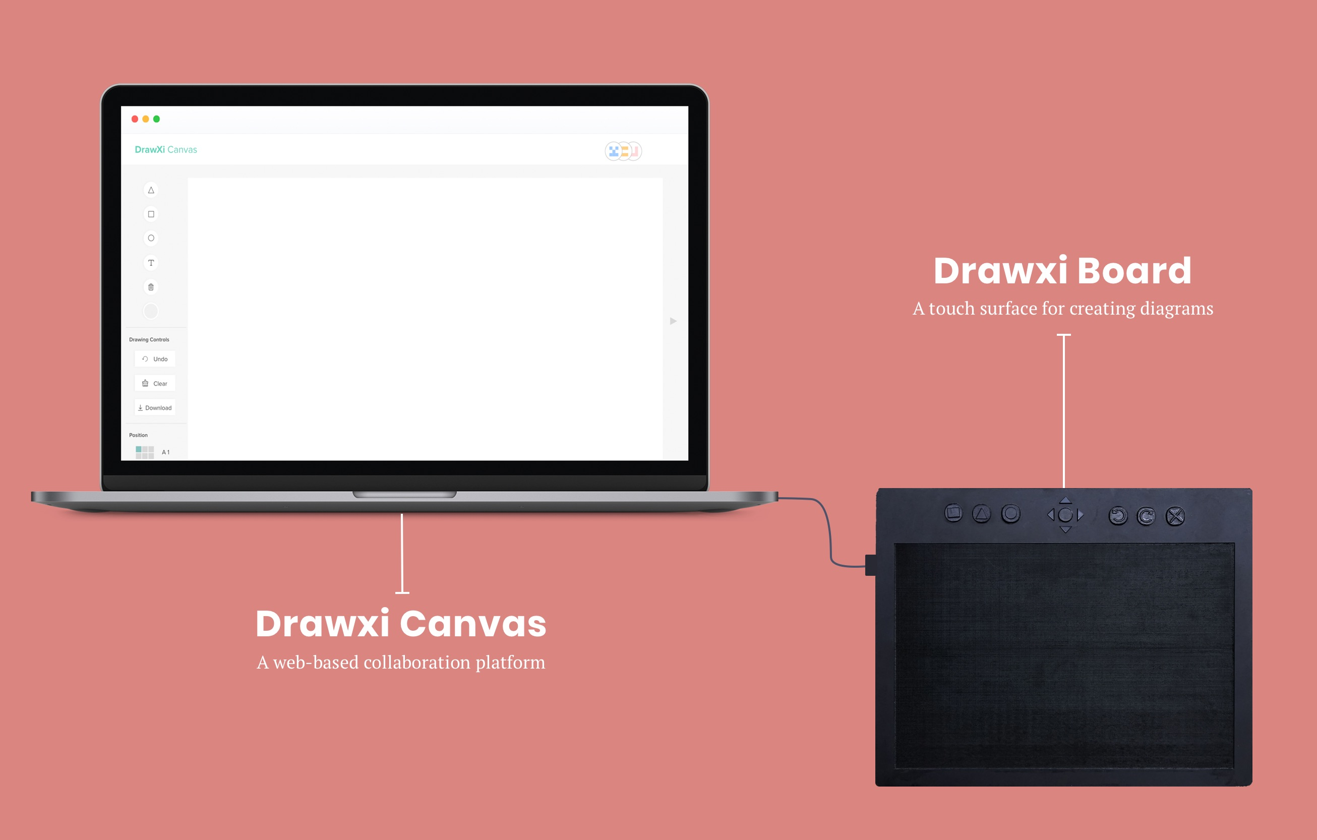 Image showing Drawxi Board and Drawxi Canvas. Final concepts presented at CHI 2019.