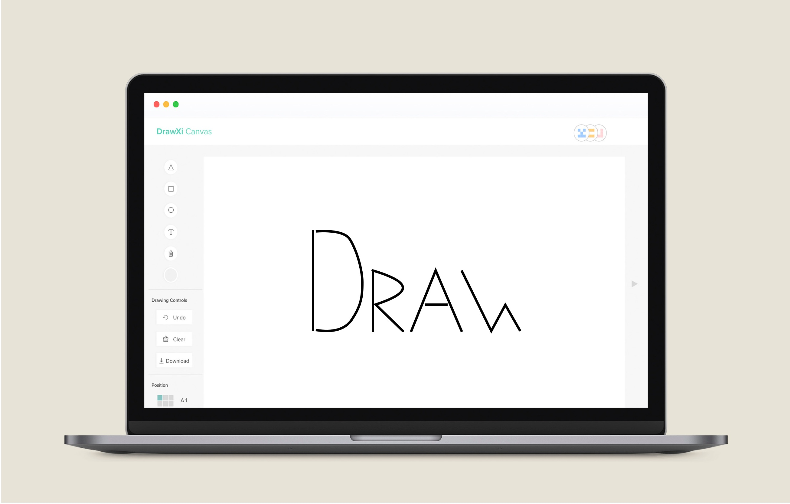 Image showing Freeform drawing being represented on Drawxi Canvas.