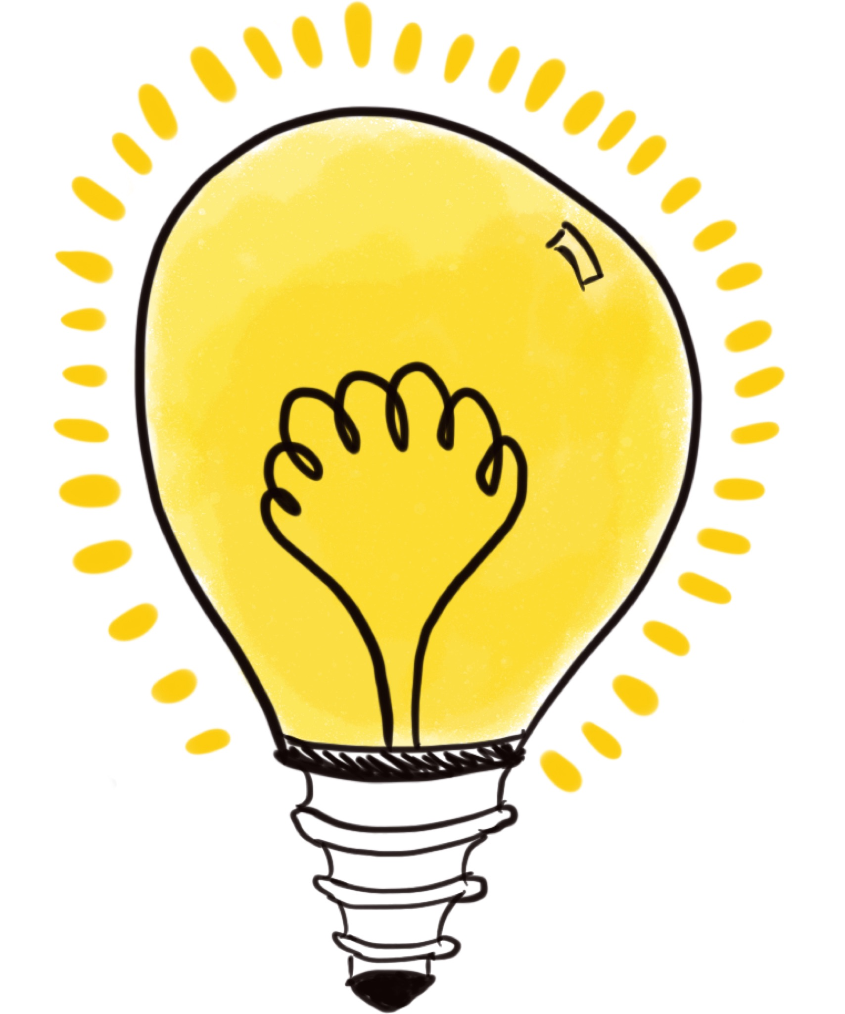 Icon of a bulb representing reflections.
