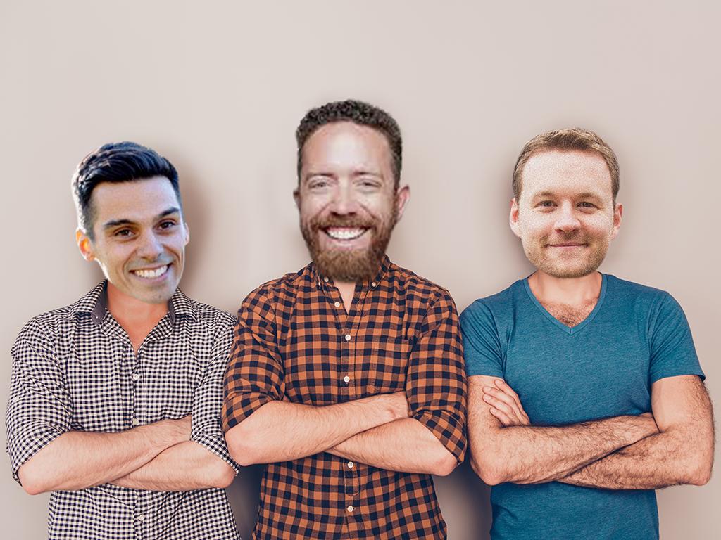 Tony Ramirez, Tyler Davis and Jake Brereton