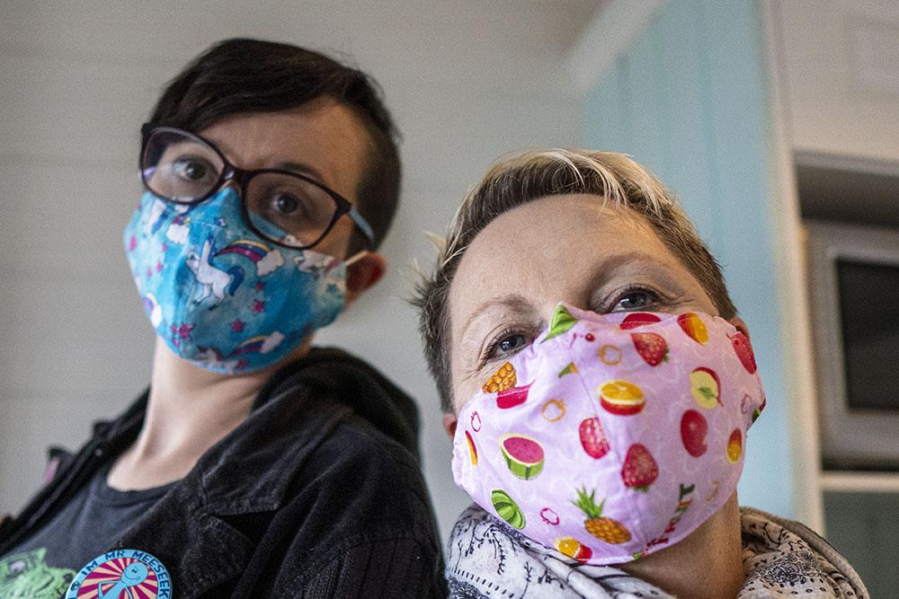 Two Women Wearing Face Masks