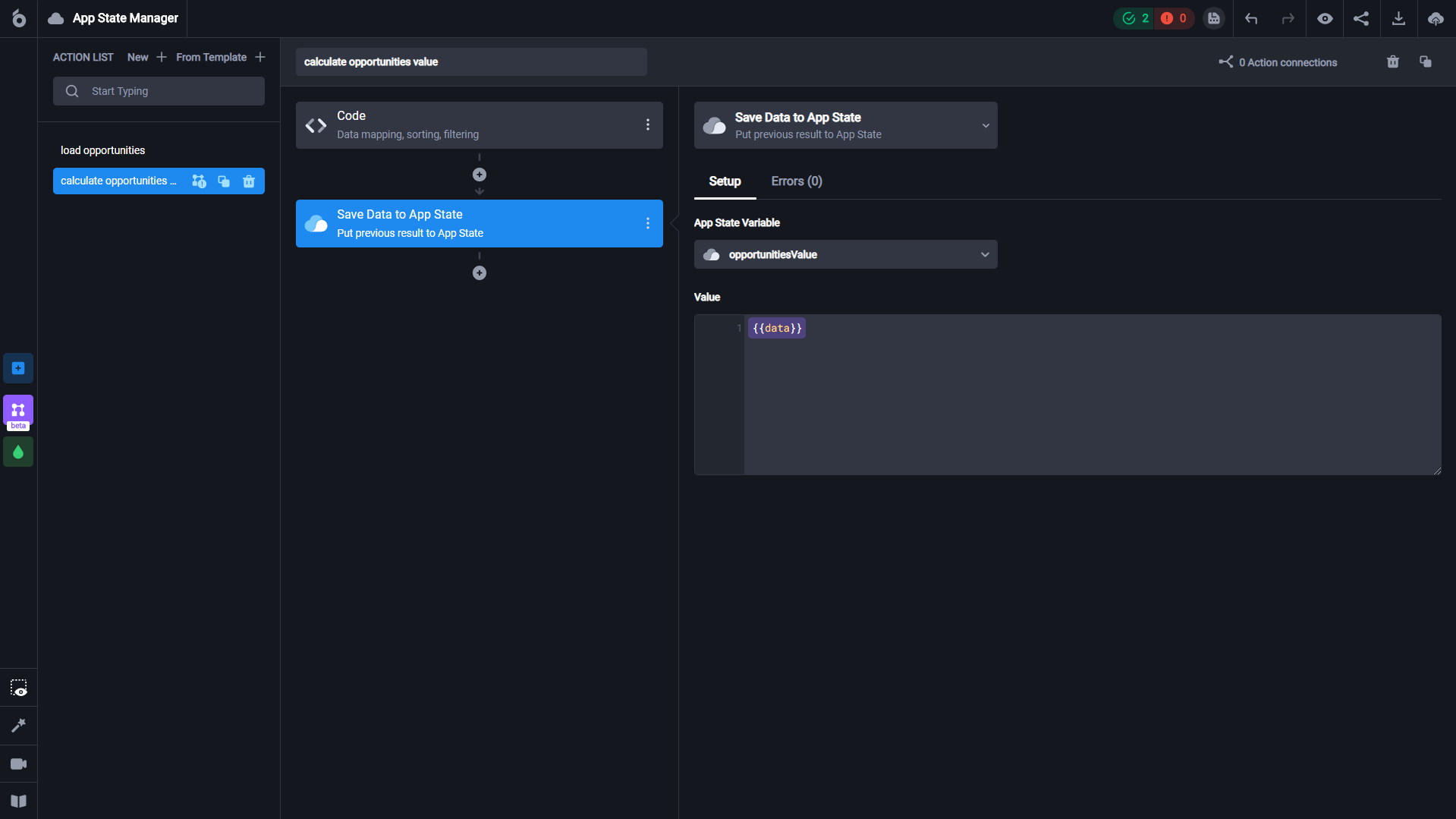 How to build a dashboard and use the data connection feature to connect Airtable data using the UI Bakery web app creator