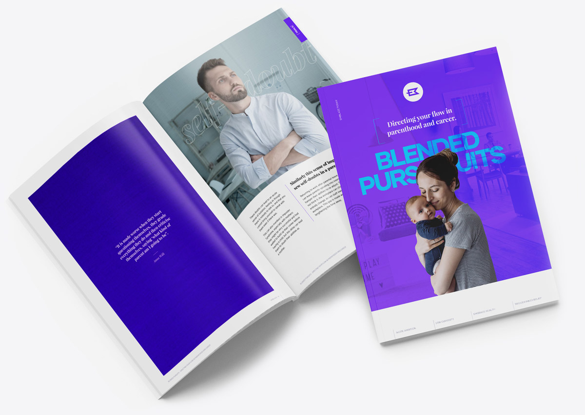 Blended Pursuits is our free downloadable magazine about working parents, and expert working parent techniques.