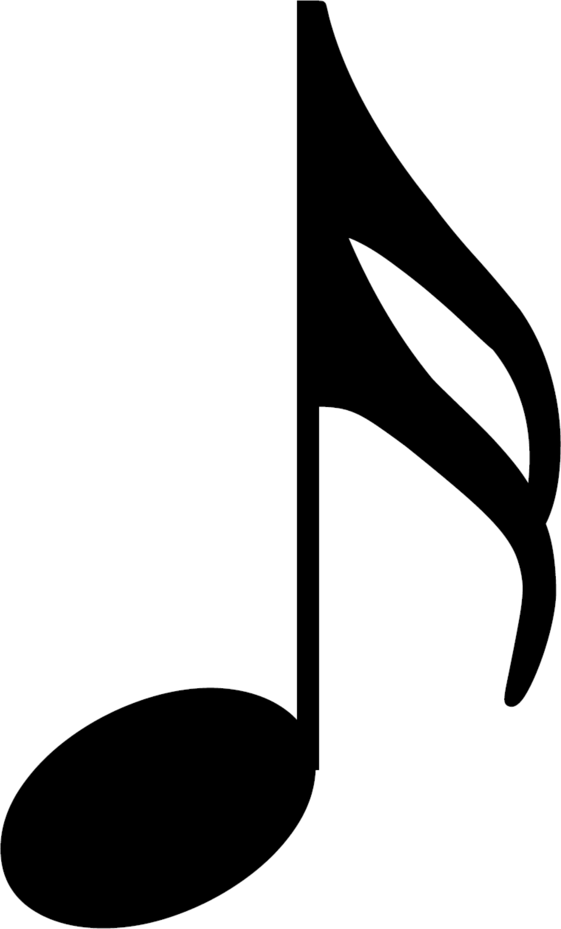 An HD sixteenth note, also called a semiquaver; a musical symbol and musical note value.