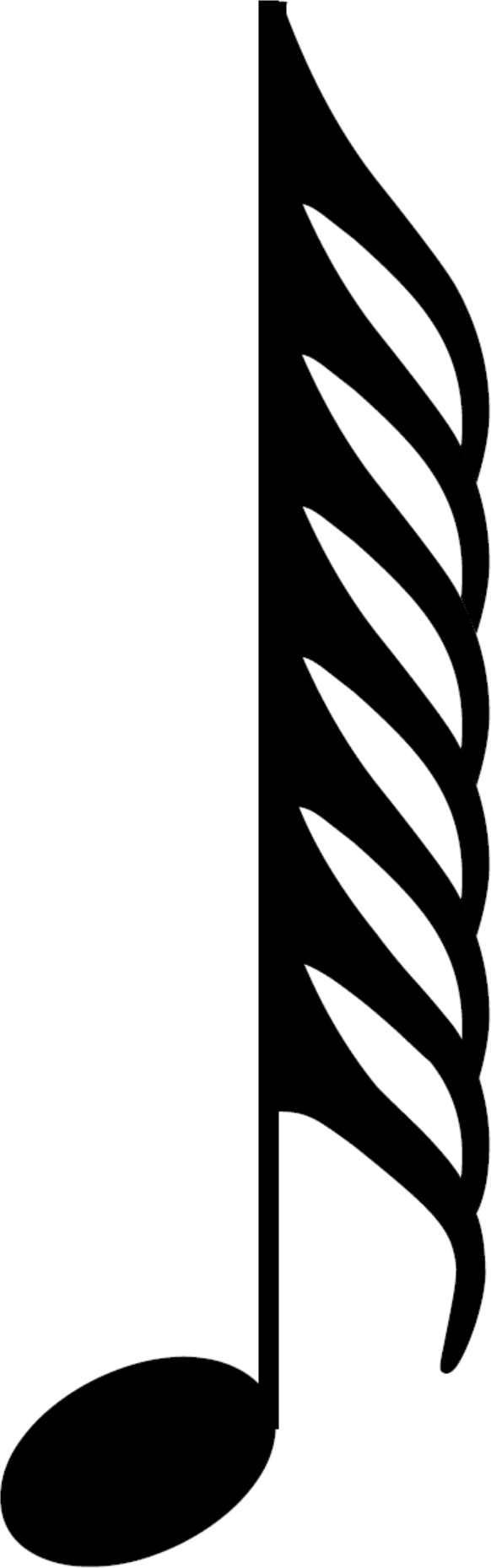 An HD five hundred and twelfth note, also called a hemidemisemihemidemisemiquaver; a musical symbol and musical note value.