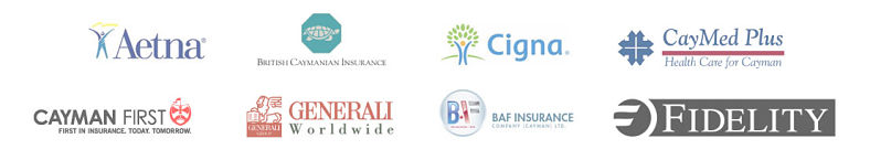 Cayman First, Aetna, Generali, BAF Insurance, Fidelity, Caymed Plus, British Caymanian Insurance collage