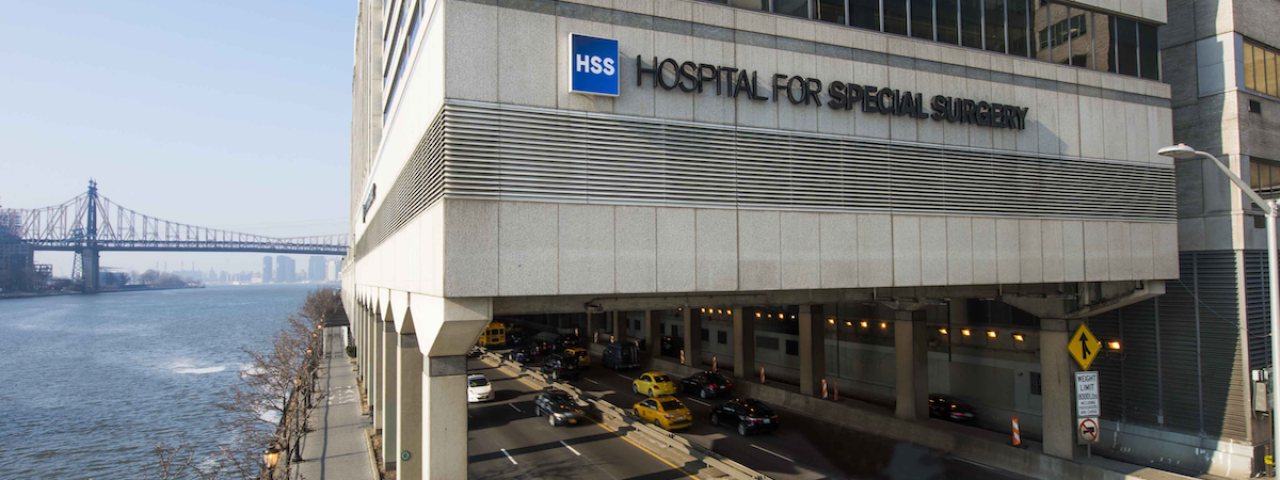 Picture of the exterior of Hospital for Special Surgery Orthopedic Center in Manhattan
