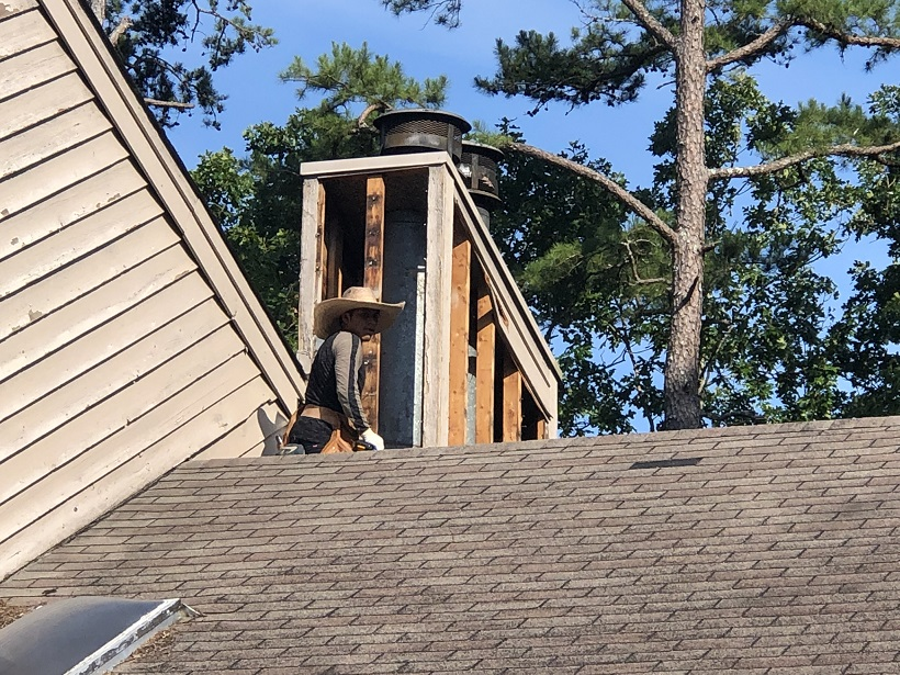 Lawrenceville siding replace chimney, rot removal