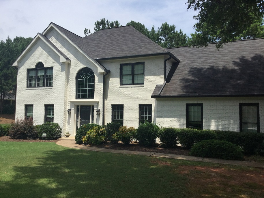 Alpharetta brick paint completed project