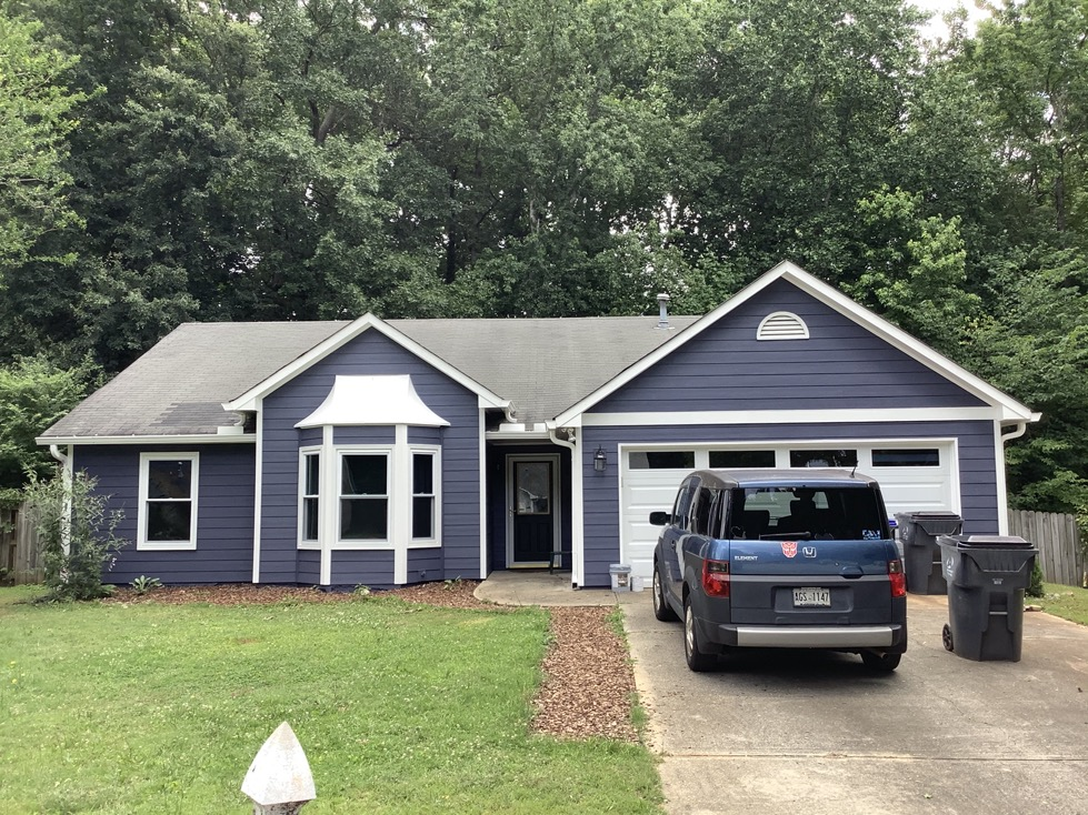 New siding and paint in Lawrenceville Georgia