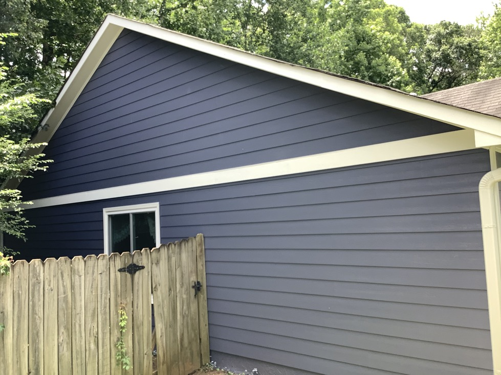 Siding installation and paint