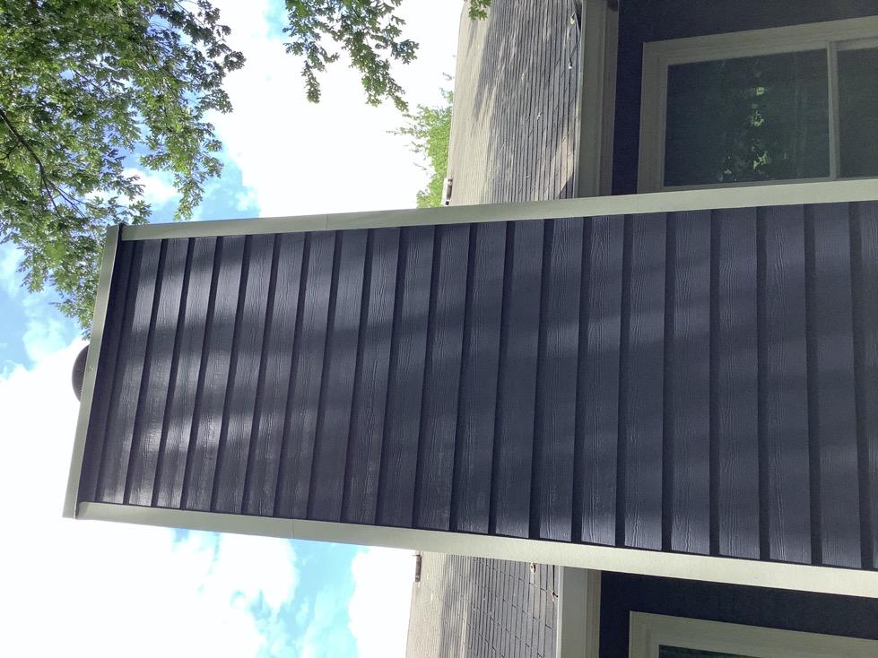 New chimney siding