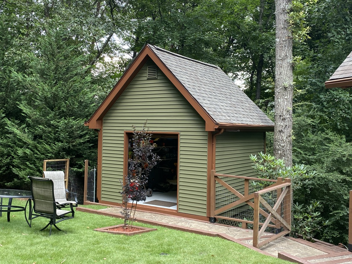 Shed with new siding