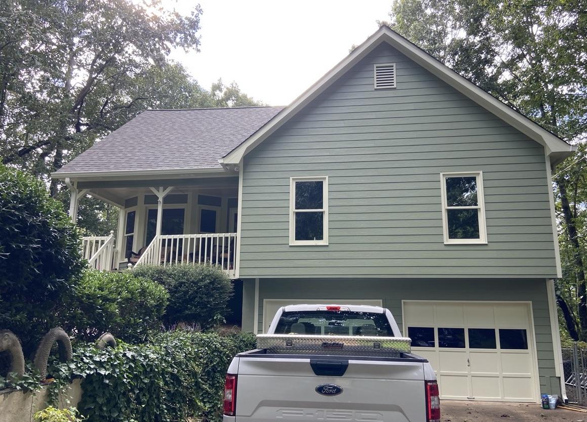 New Nichiha siding, paint, and windows in White Georgia