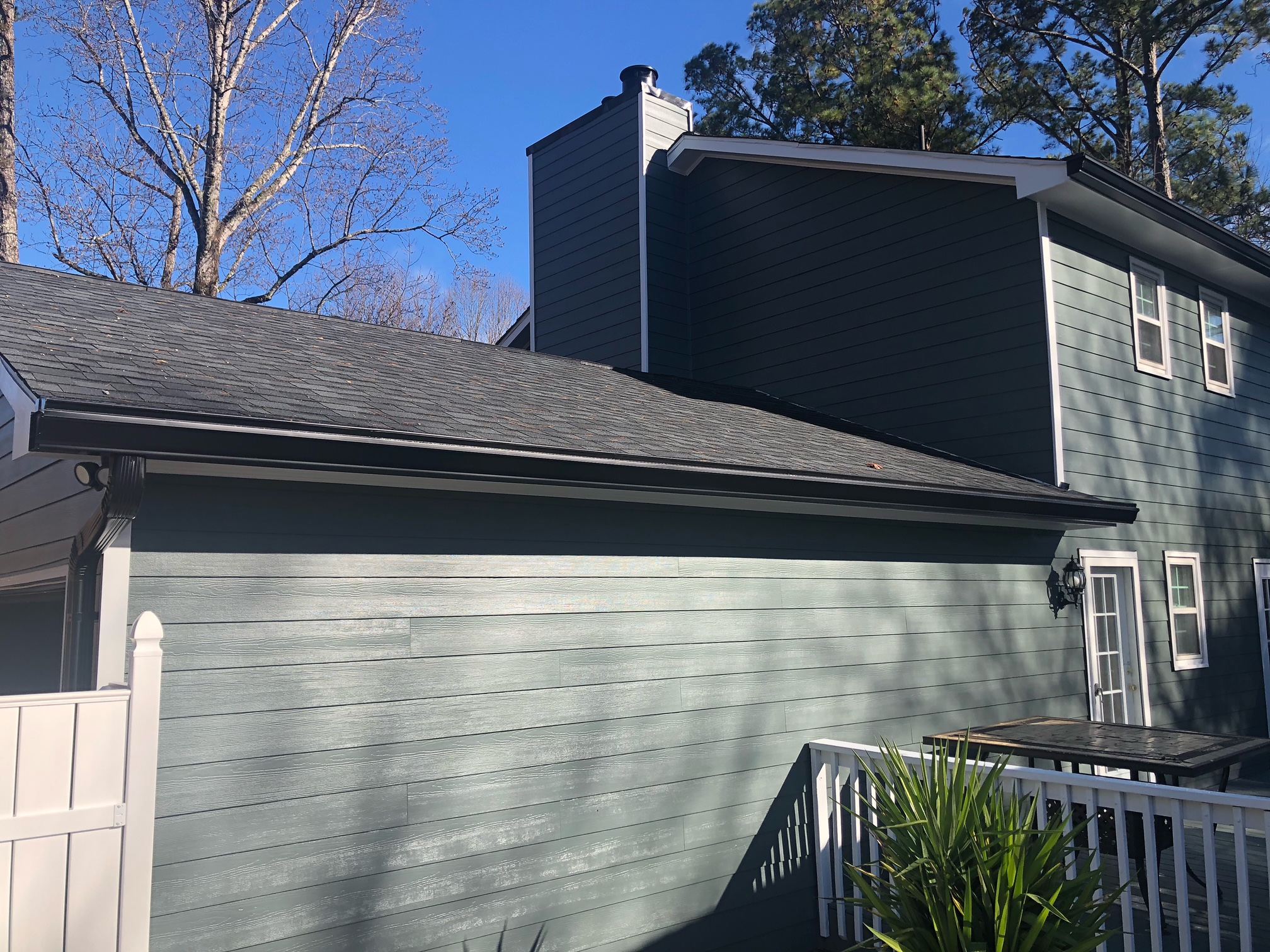 Siding replacement with paint