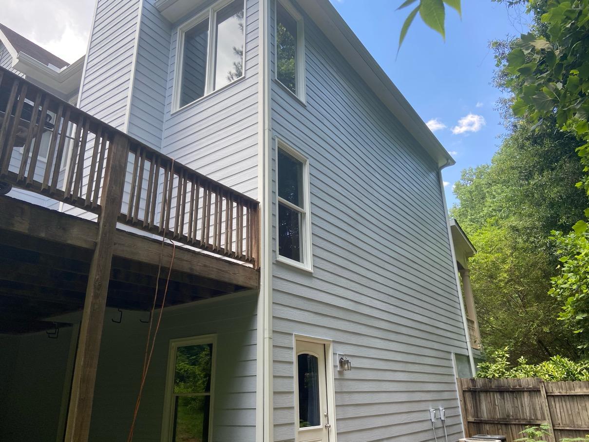 Kennesaw house back and deck Nichiha siding