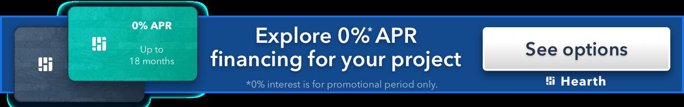 0% financing banner