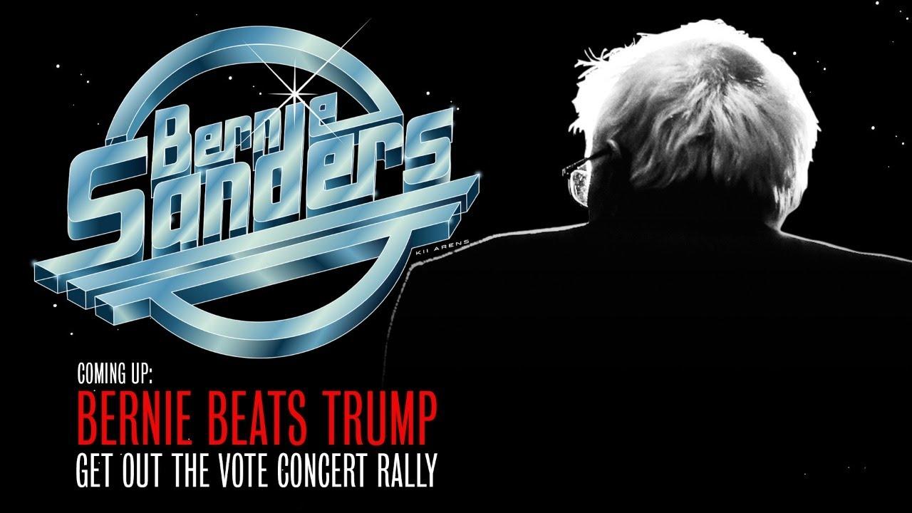 The Strokes Rally For Bernie