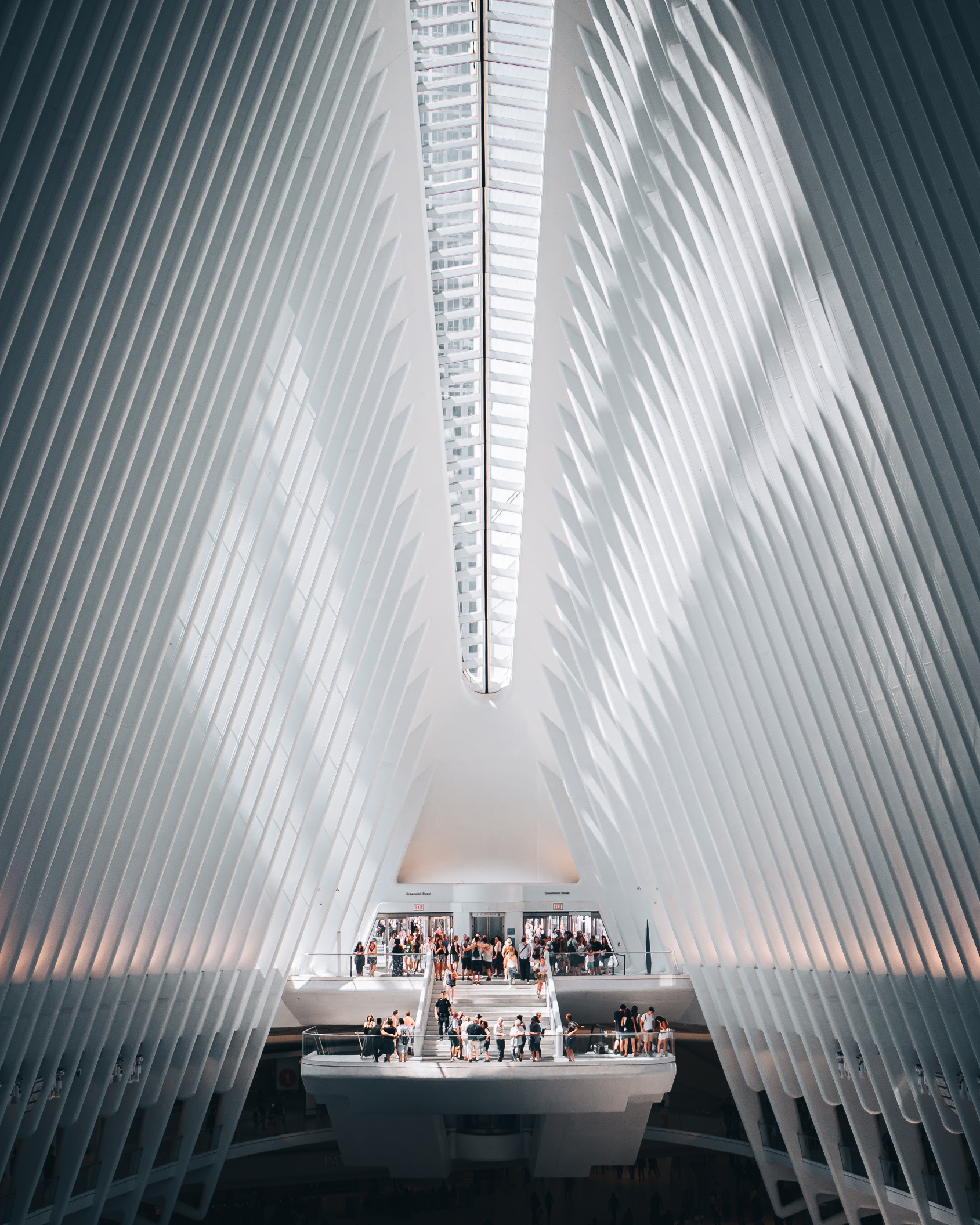 Inside the Oculus in Downtown Manhattan, New York City