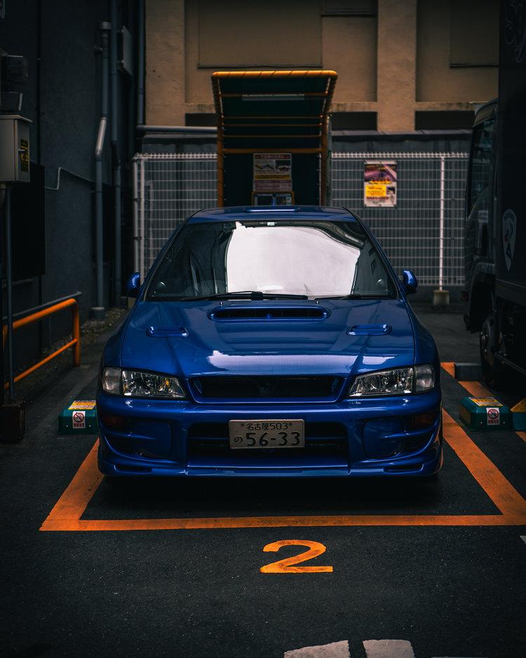 World Rally Blue Subaru WRX STi in Osaka, Japan