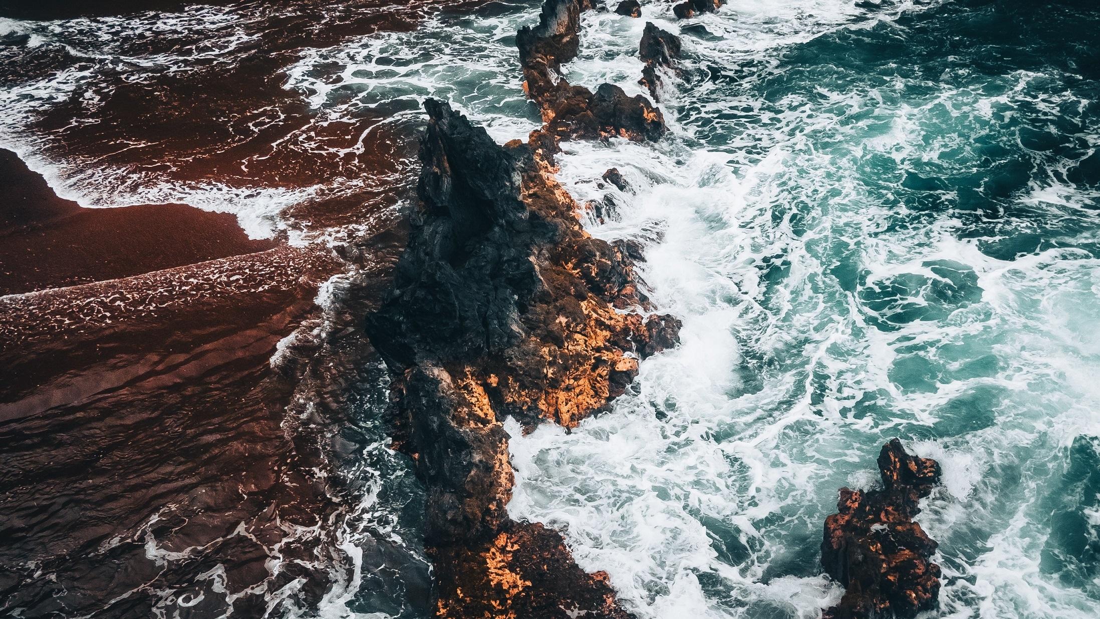 Overlooking Kaihalulu Beach in Maui, Hawaii