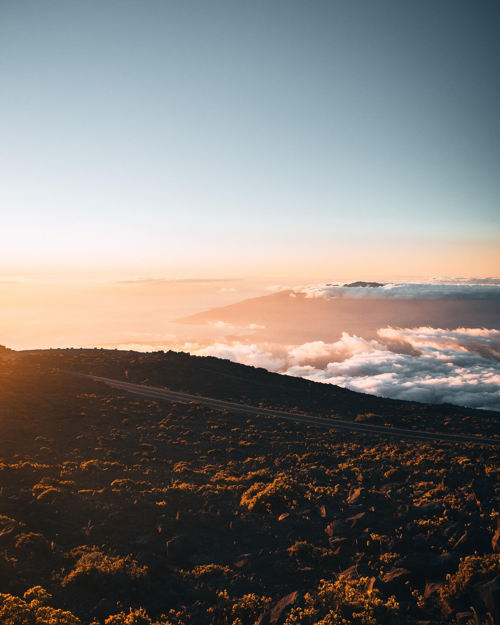 Above the clouds during sunset at Haleakalā National Park, Maui, Hawaii