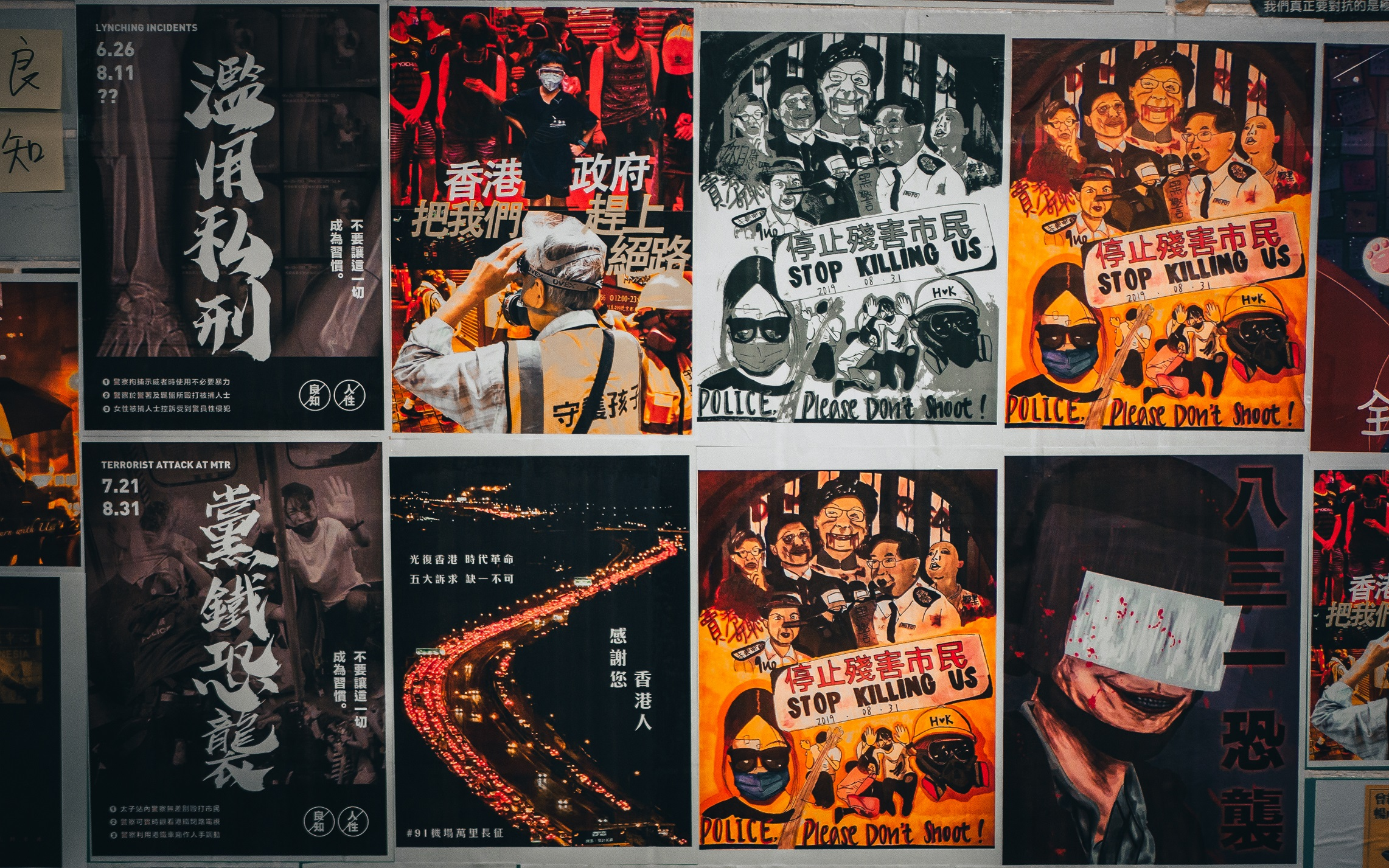 Lennon Wall posters in Hong Kong