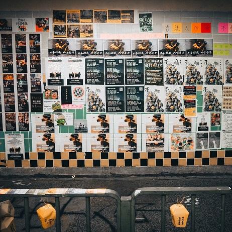 Hong Kong Protest Lennon Walls