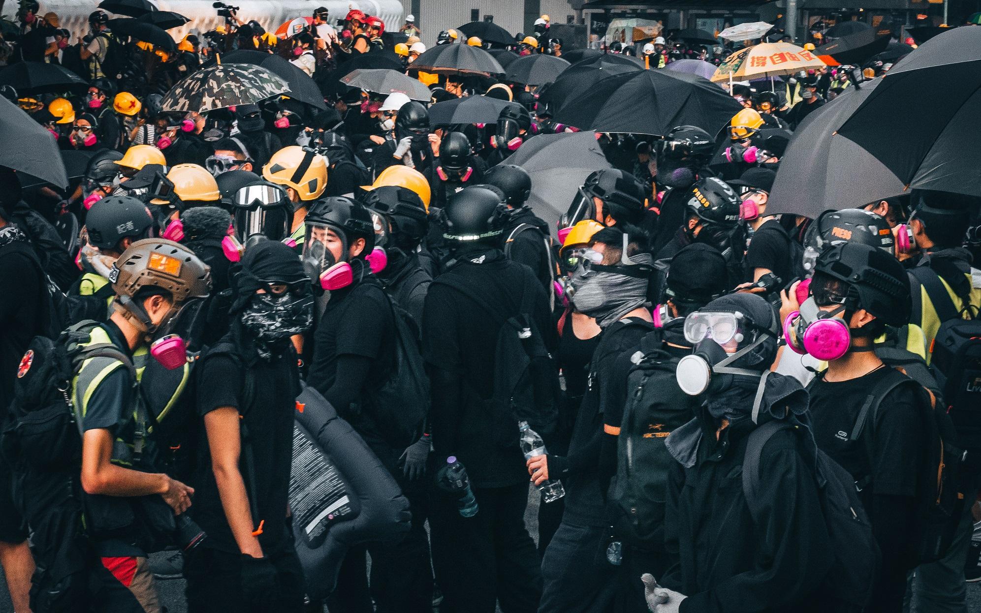 Frontliners in Hong Kong
