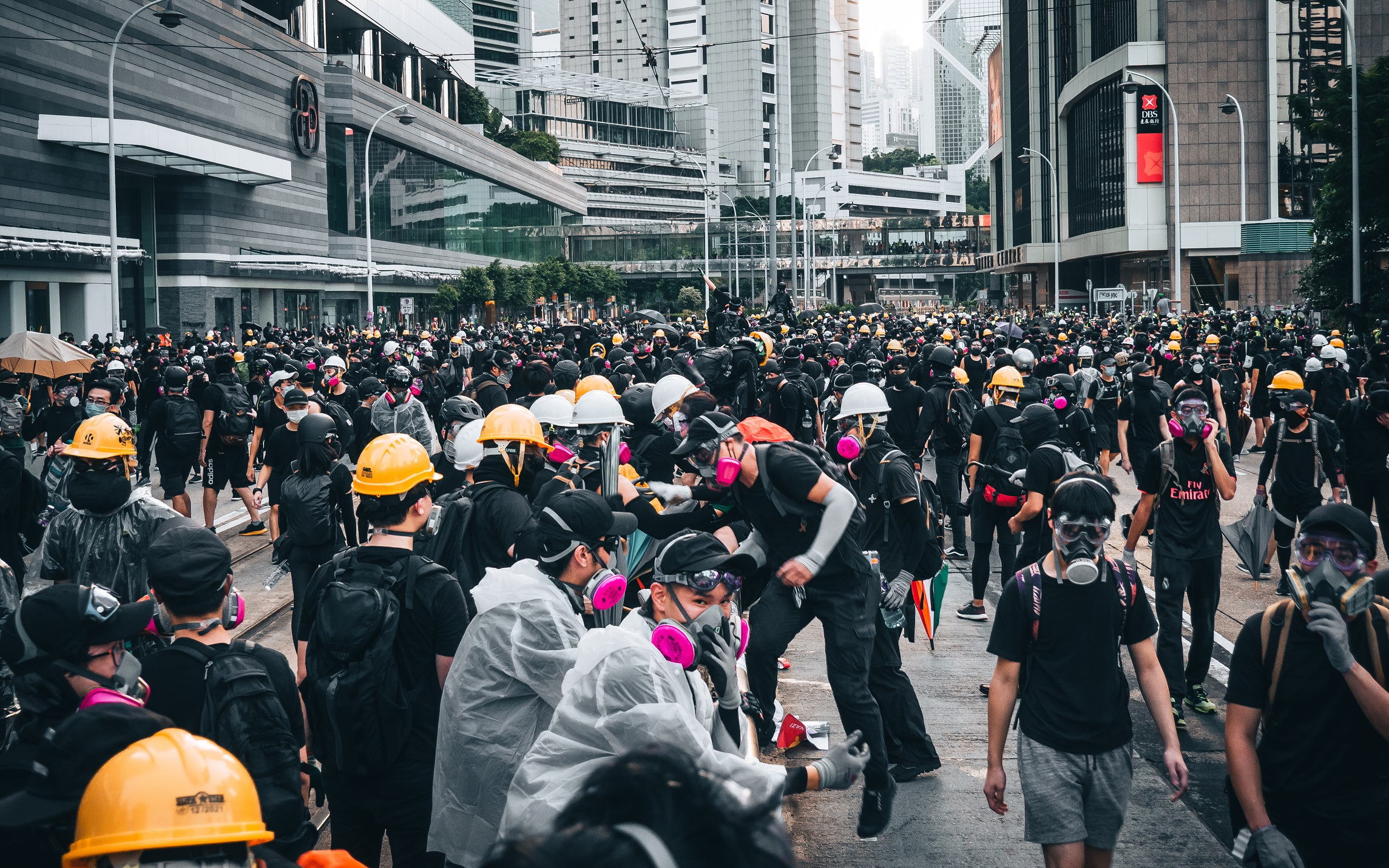 Frontliners gathering in Central, Hong Kong