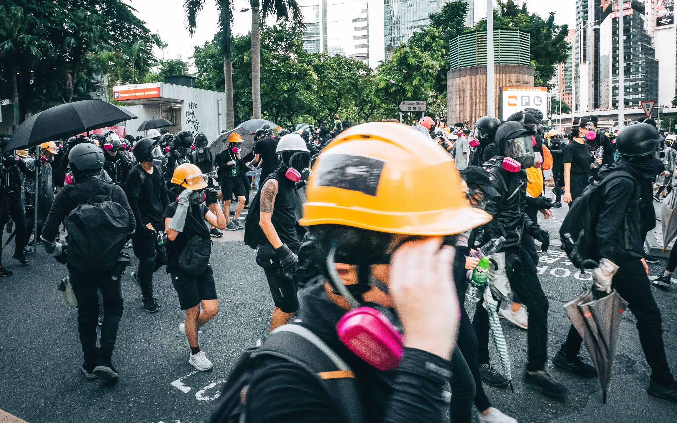 Hong Kong protesters leaving area in Hong Kong
