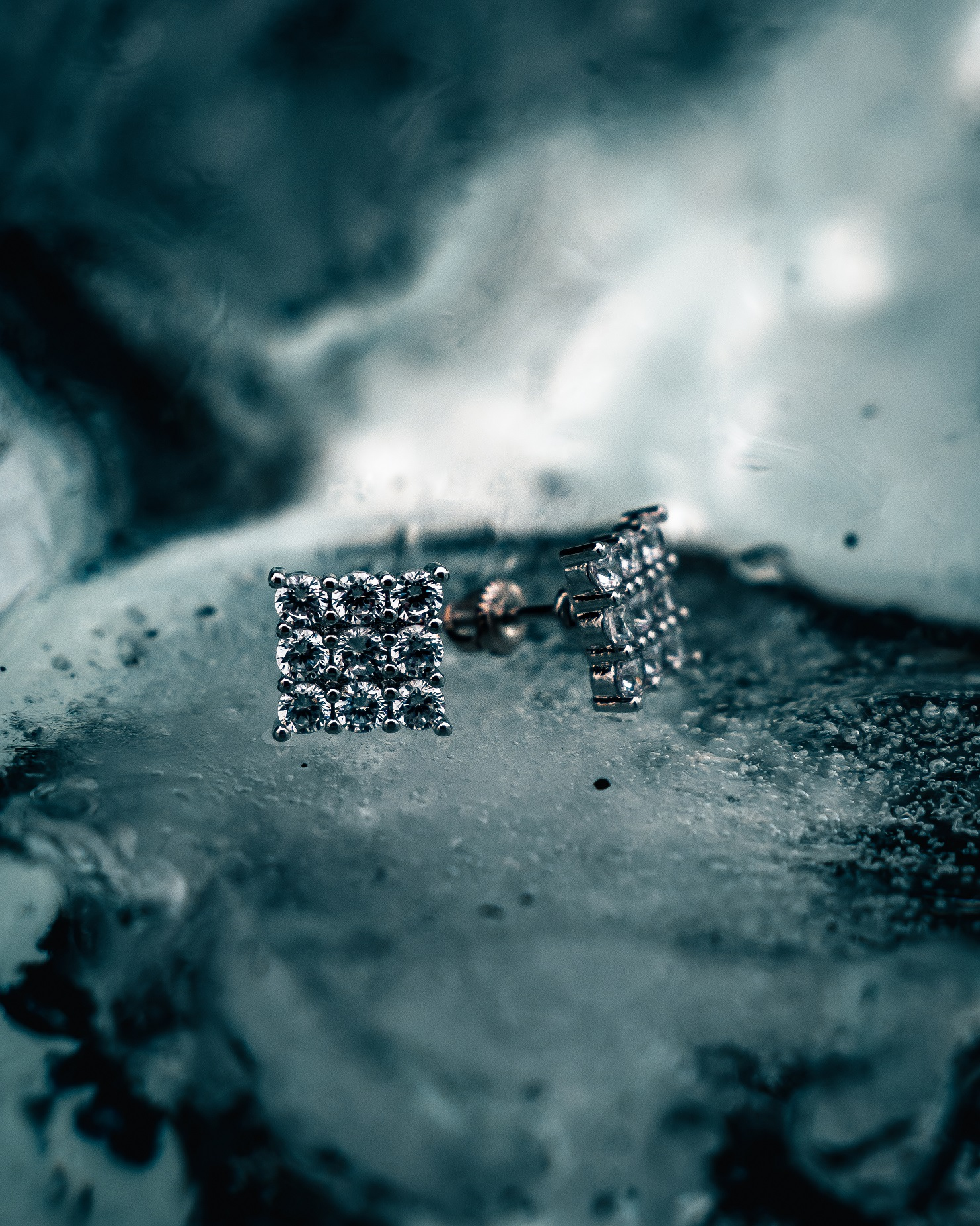 studded men swarovski earrings in iceland