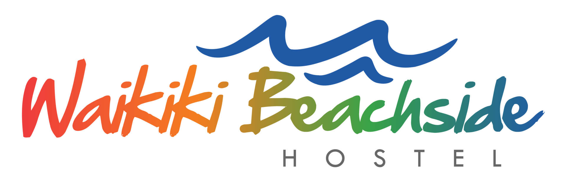 waikiki beachside hostel brand logo