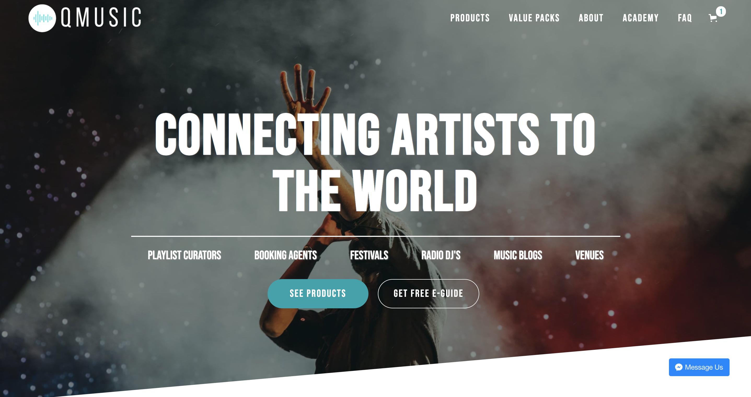 Screenshots of q music