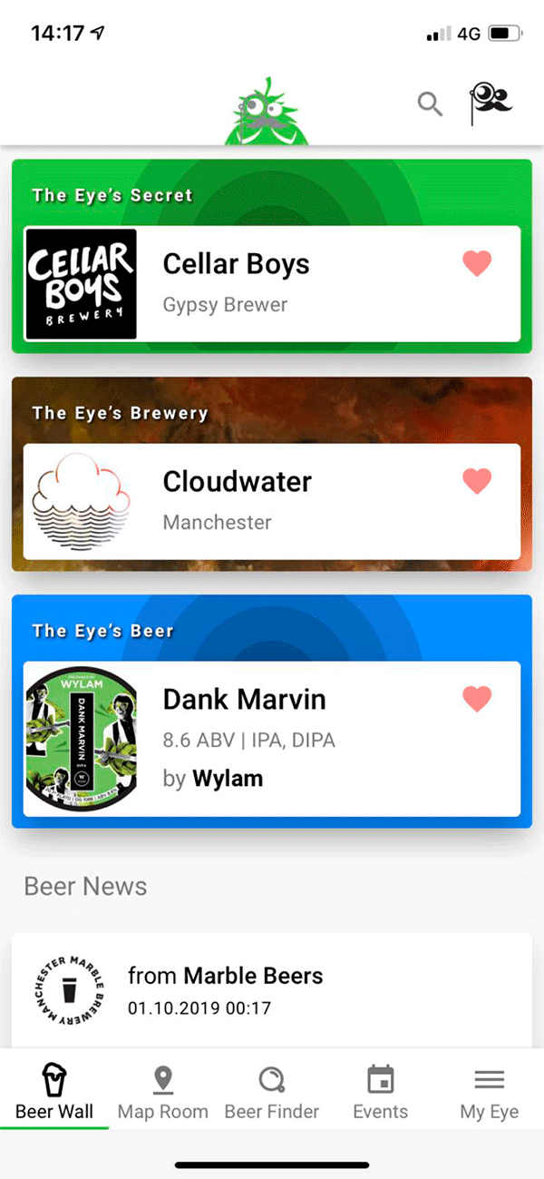 Screenshot Of App - Beer Search