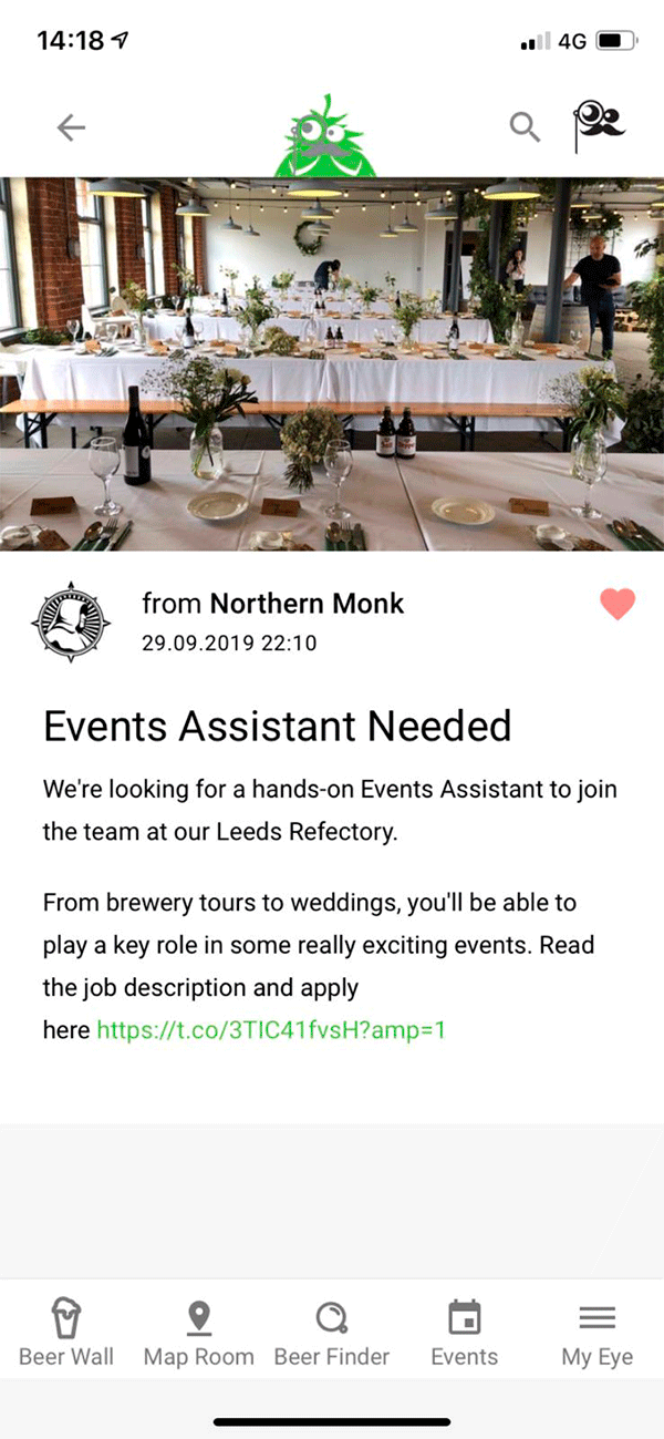 Screenshot Of App - News - Events Assistant Needed