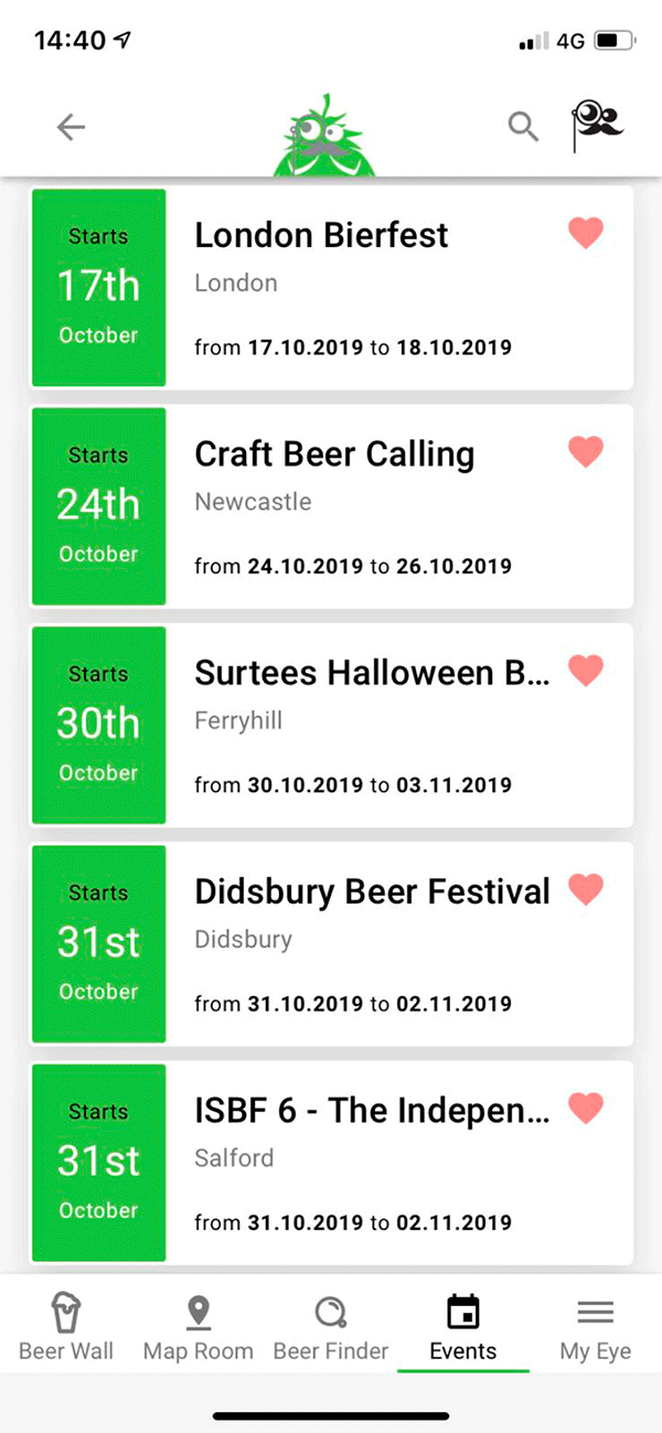 Screenshot Of App - Event Calendar