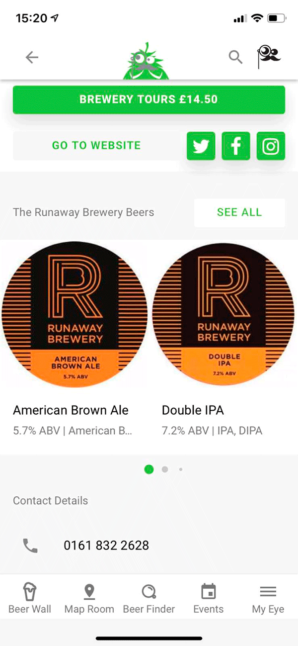 Screenshot Of App - Brewery The runaway Brewery