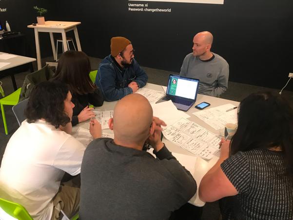Facilitating a ideation session