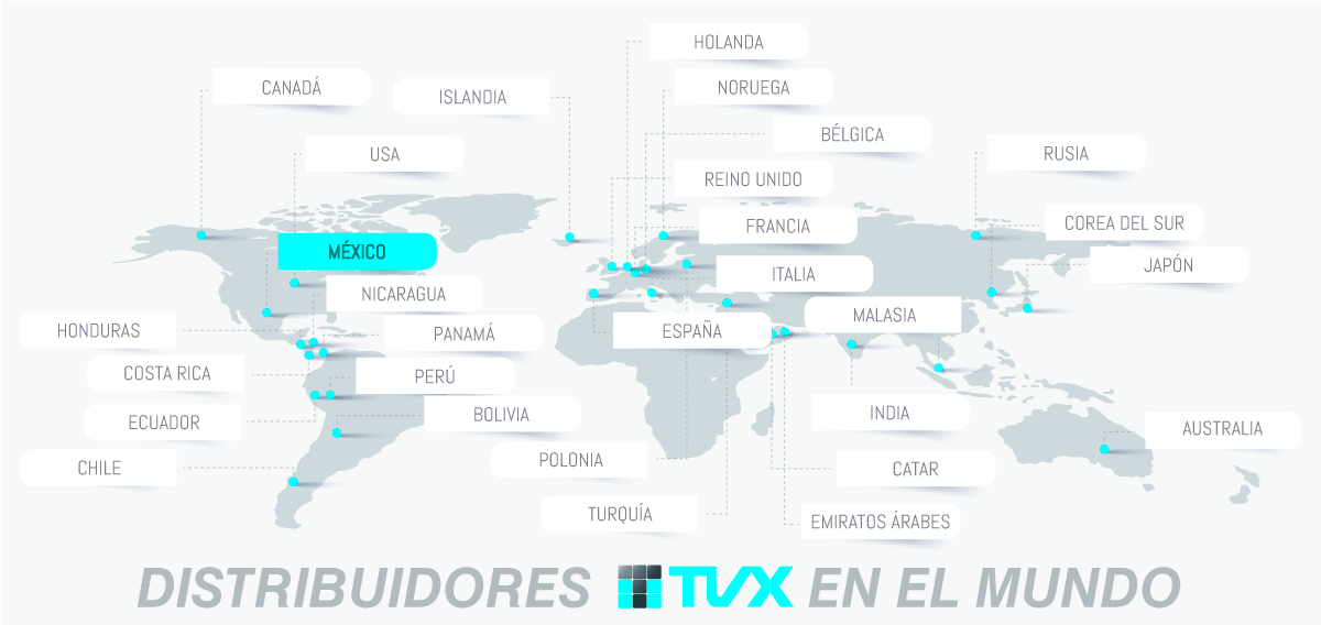 distribuidores TVX