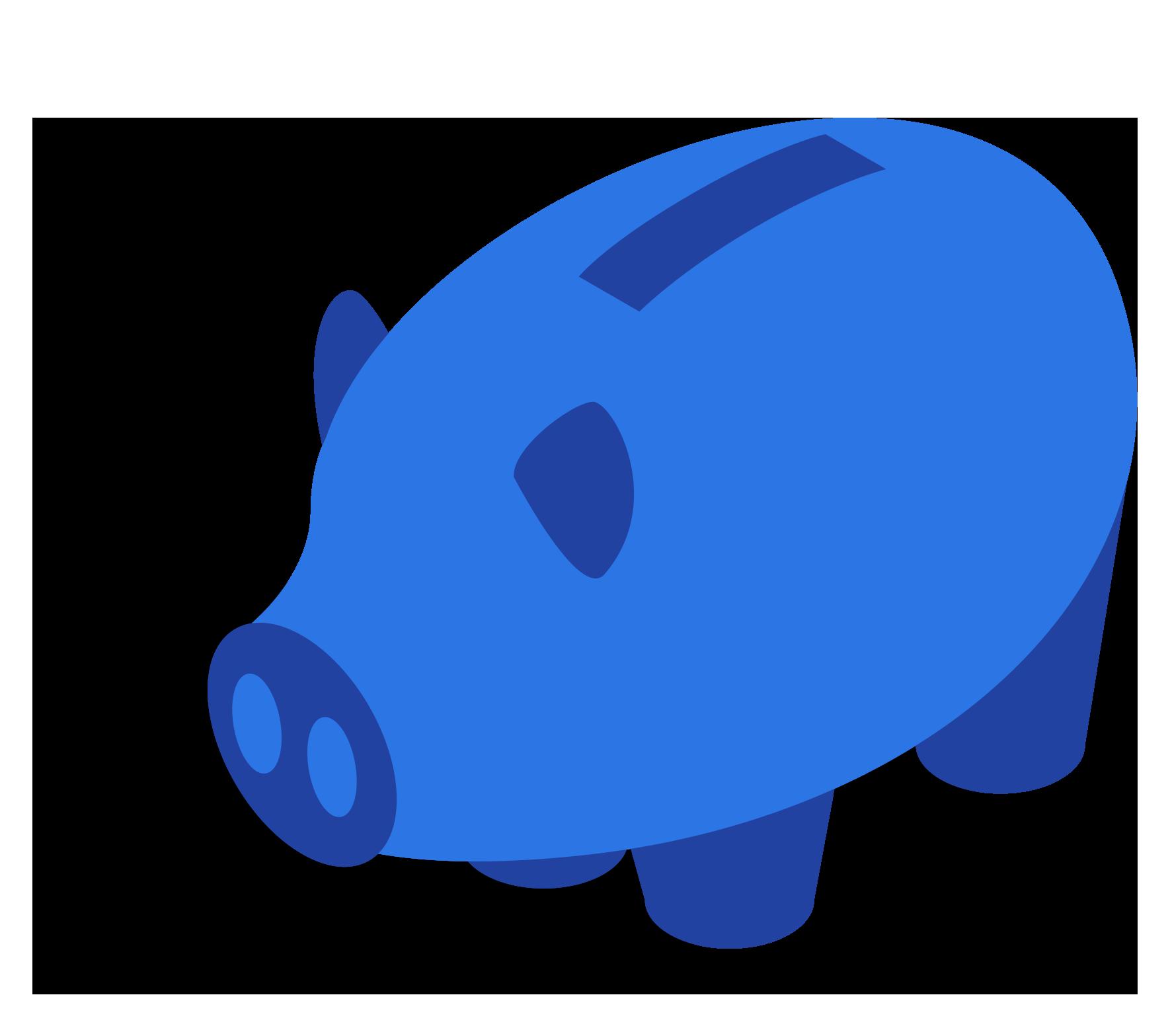 Blauw spaarvarken