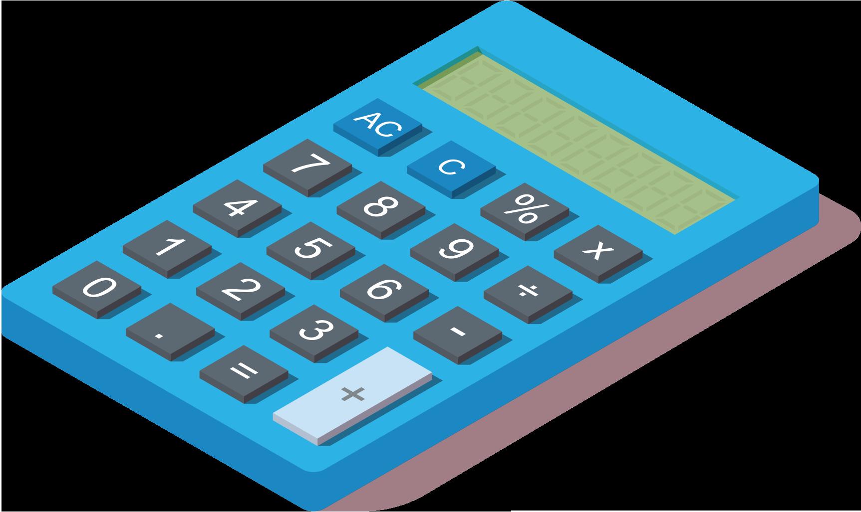 Blauwe rekenmachine