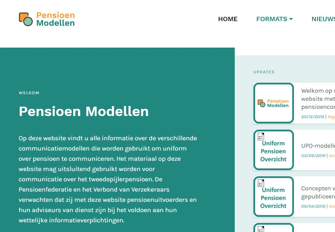 De Pensioenfederatie en het Verbond van Verzekeraars publiceren website voor pensioencommunicatiemodellen