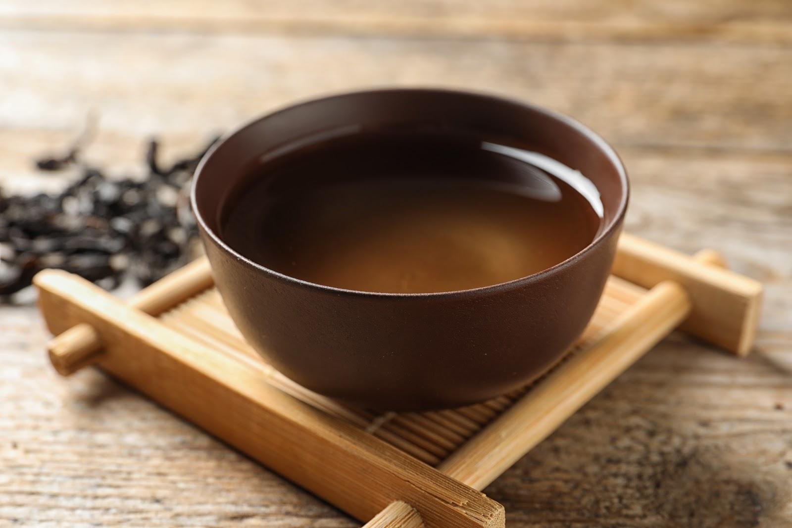 da hong pao tea brewed
