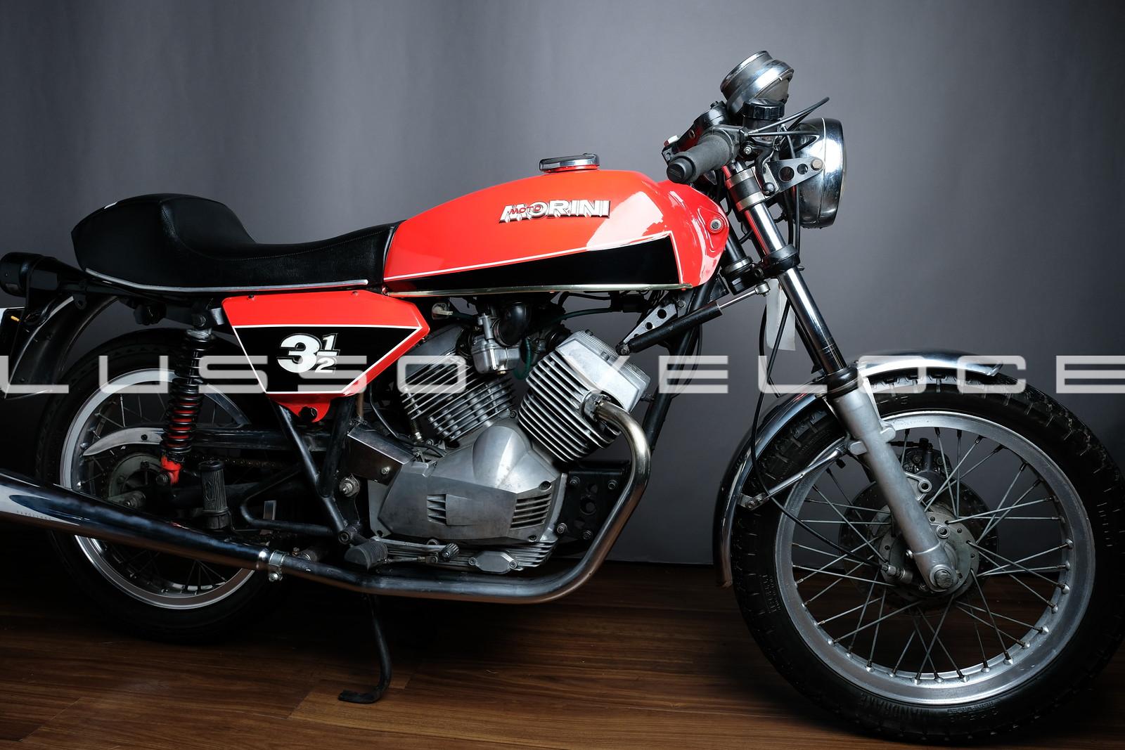 Moto Morini 350 Sport Wires and disc