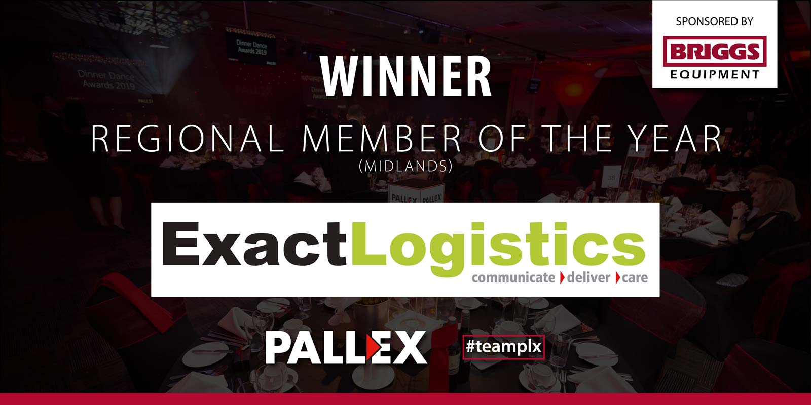 Pallex Regional Member of the Year - Exact Logistics